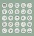Black Line Website Icons Set vector image vector image