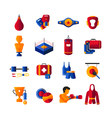 Boxing Flat Icons Collection vector image