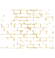 Brick wall gold texture pattern black decorative vector image vector image
