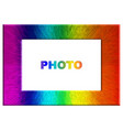 bright colorful rainbow color photo frame vector image vector image