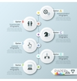 Business timeline infographic template vector image vector image