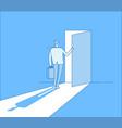 businessman opens access secret door opportunity vector image vector image