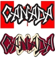 canada word graffiti different style vector image vector image