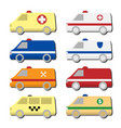 cars icon set isolated on white vector image vector image
