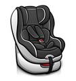 child car seat design vector image vector image