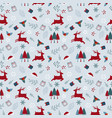 christmas holiday seamless pattern with deers vector image
