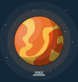 colorful poster of the planet venus in the space vector image vector image