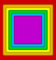 concentric square lgbt rainbow flag gay colors vector image vector image