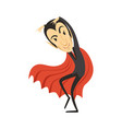 count dracula sneaking vampire in black suit and vector image vector image