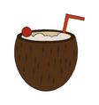 delicious coconut cocktail vector image vector image
