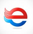 e internet logo vector image vector image