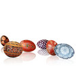 easter background with easter eggs and reflections vector image vector image