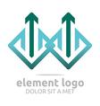 element green arrow blue design symbol icon vector image vector image