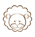 figure lion animal head expression vector image