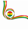 ghanayan wavy flag background vector image vector image