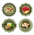 ginger products labels set vector image vector image