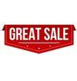 great sale banner design vector image