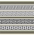 greek borders collection vector image