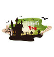halloween smoke background vector image vector image