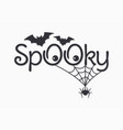 halloween vintage lettering spooky on white vector image