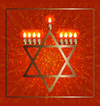 hanukkah 2-10 december judaic holiday vector image