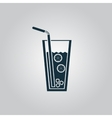 Ice drink with straw vector image