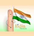 india independence day finger poster vector image vector image
