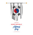 korea republic national day template design vector image