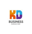 letter kd logo simple design template business vector image vector image