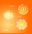 modern virtual futuristic infographics vector image vector image