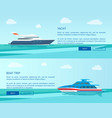 modern yacht for sea walk and boat trip promotion vector image vector image