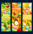 multivitamins complex in fruits and veggies vector image vector image