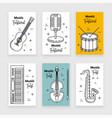 music festival banner line art set vector image