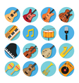 Music Instruments Icons Set vector image vector image