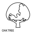 oak tree icon outline style vector image vector image