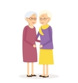 Old Woman Friends vector image