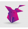 paper dog in origami style icon symbol vector image vector image
