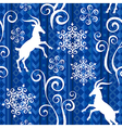 Pattern goat year blue vector image