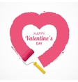 Pink Valentine Heart vector image vector image