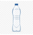 plastic bottle with mineral water on alpha vector image