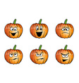 pumpkin faces cartoon vector image