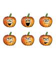pumpkin faces cartoon vector image vector image