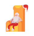 Santa claus in slippers