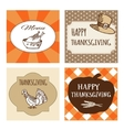 set thanksgiving cards invitations vector image vector image