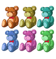 Six bears vector image vector image