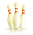 Skittles for bowling on a white background vector image vector image