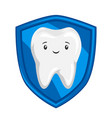 smiling protected healthy tooth vector image vector image