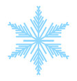 snowflake icon blue color vector image