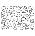 speech bubbles icon set vector image vector image