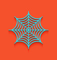 spider on web whitish icon vector image